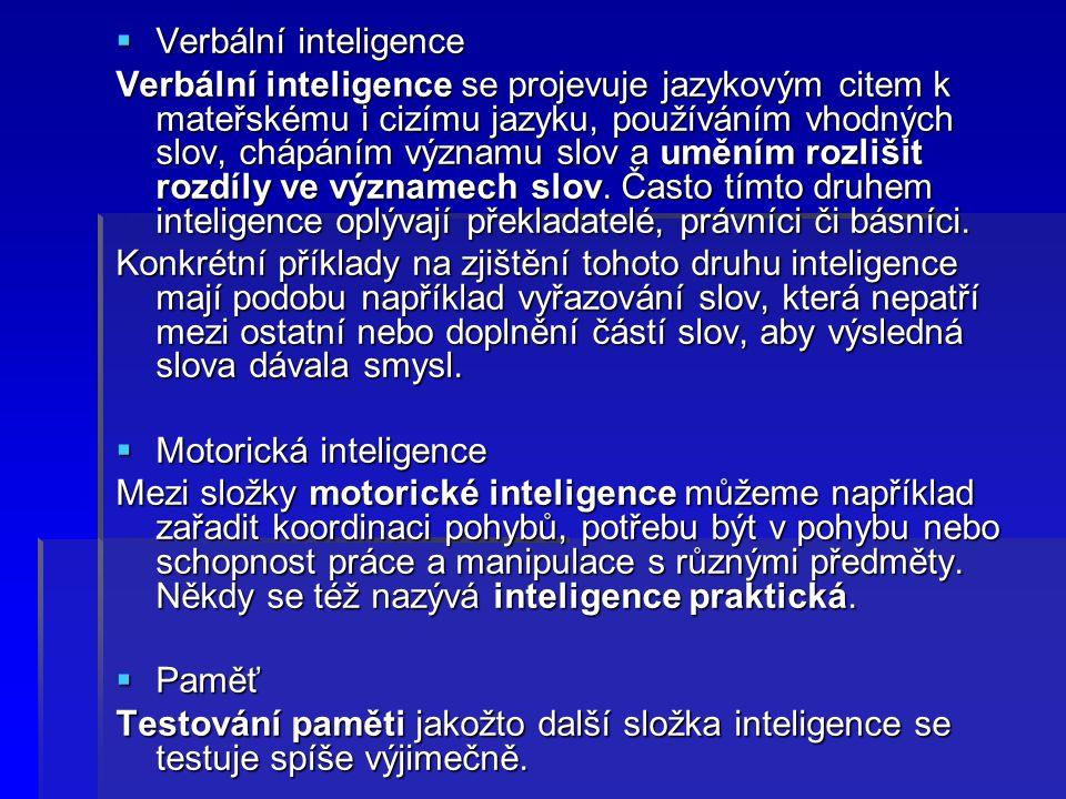 Verbální inteligence