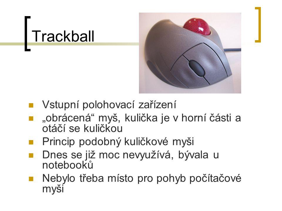 Trackball Vstupní polohovací zařízení
