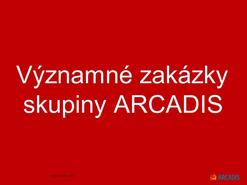 Významné zakázky skupiny ARCADIS