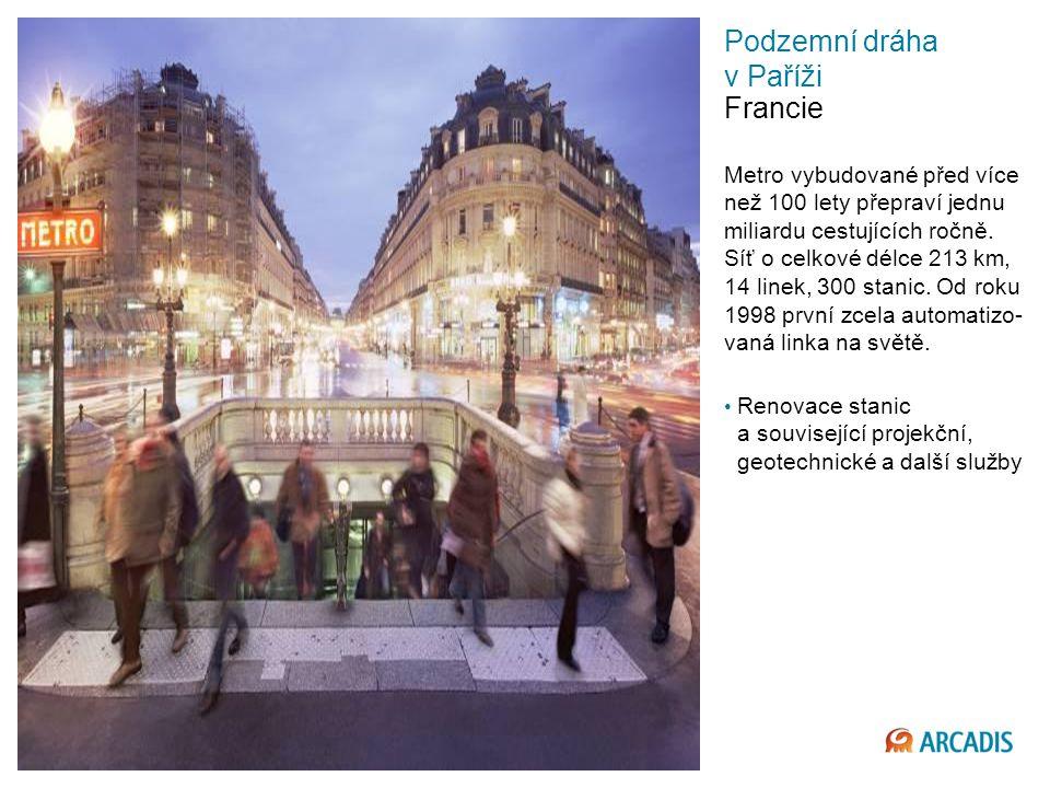 Podzemní dráha v Paříži Francie