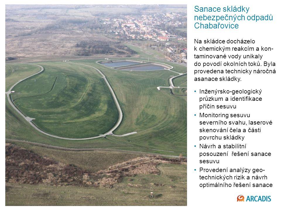 Sanace skládky nebezpečných odpadů Chabařovice