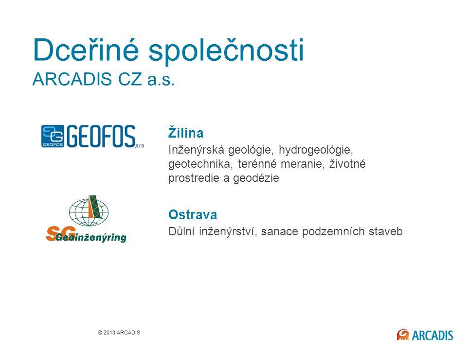 Dceřiné společnosti ARCADIS CZ a.s.