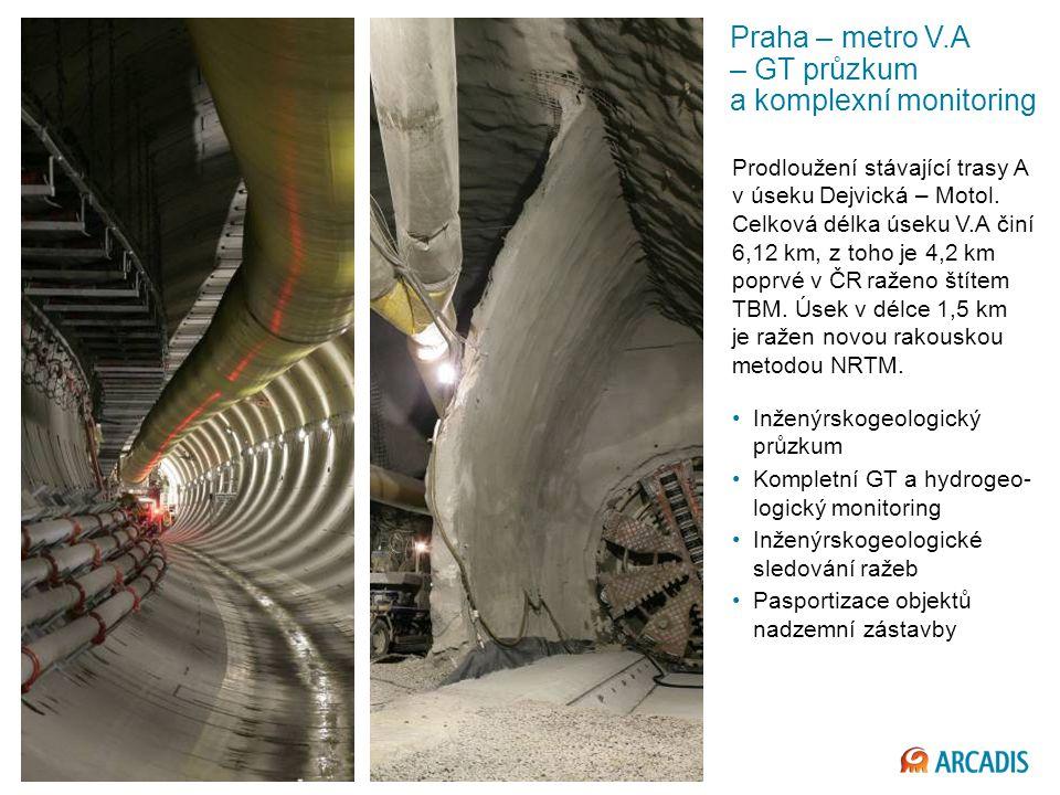 Praha – metro V.A – GT průzkum a komplexní monitoring