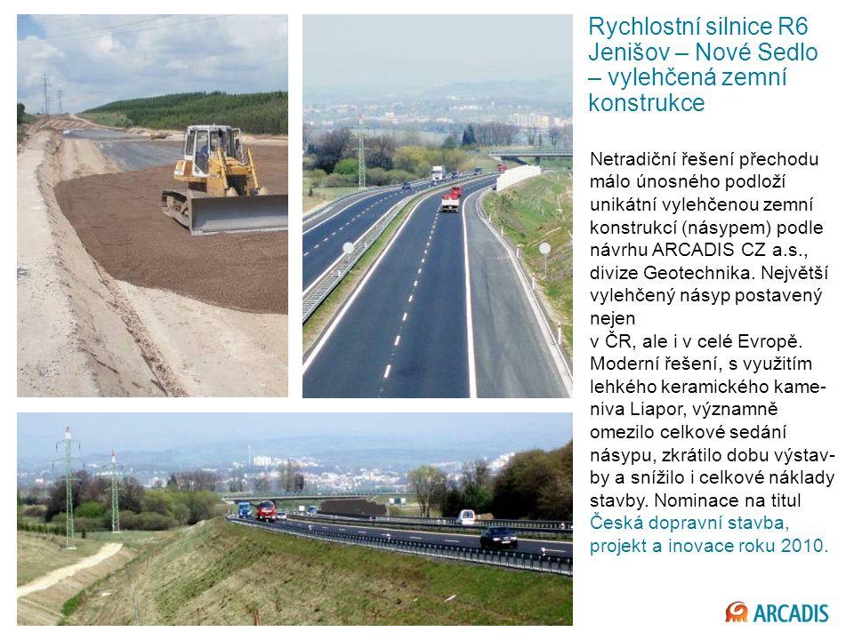 Rychlostní silnice R6 Jenišov – Nové Sedlo – vylehčená zemní konstrukce