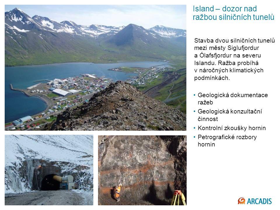 Island – dozor nad ražbou silničních tunelů