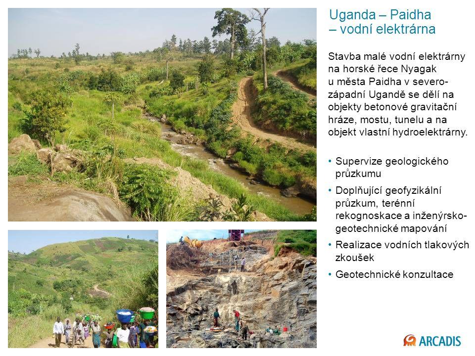 Uganda – Paidha – vodní elektrárna