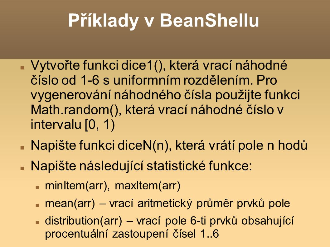 Příklady v BeanShellu