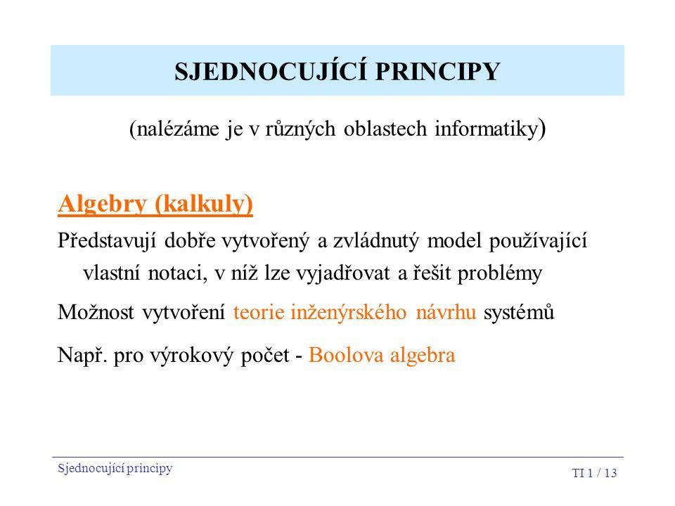SJEDNOCUJÍCÍ PRINCIPY