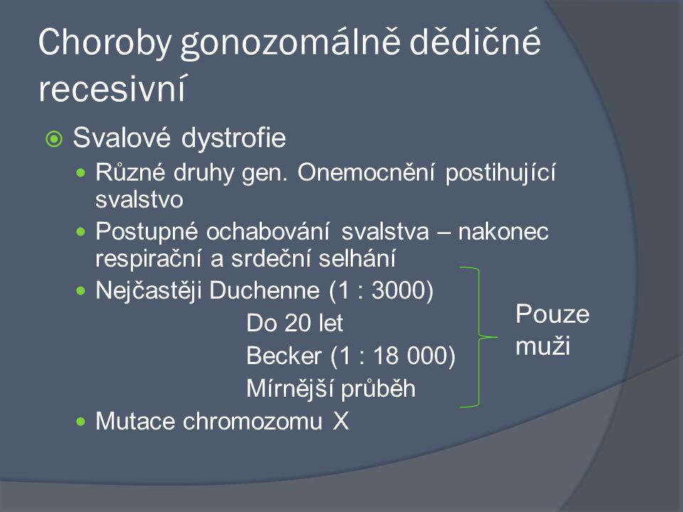 Choroby gonozomálně dědičné recesivní