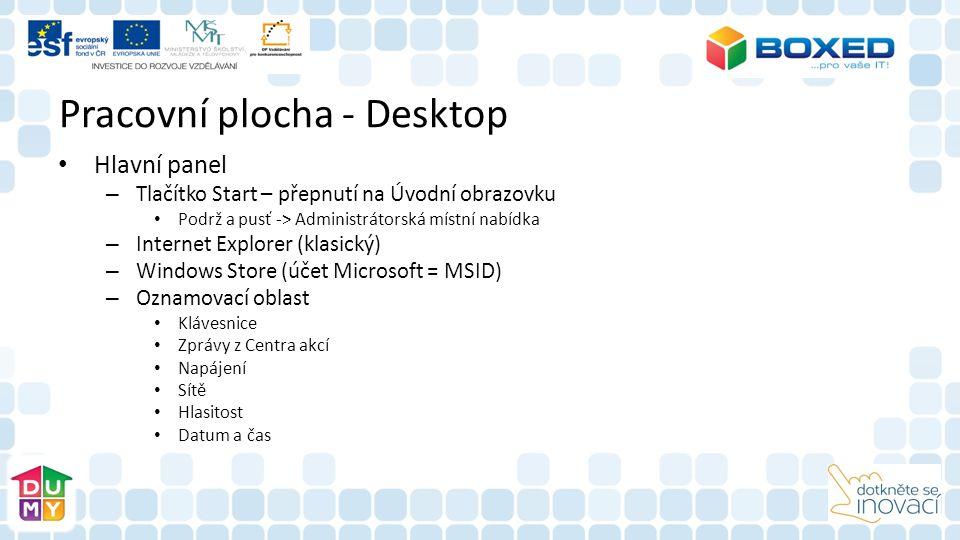 Pracovní plocha - Desktop