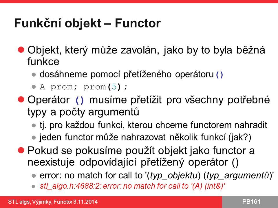 Funkční objekt – Functor