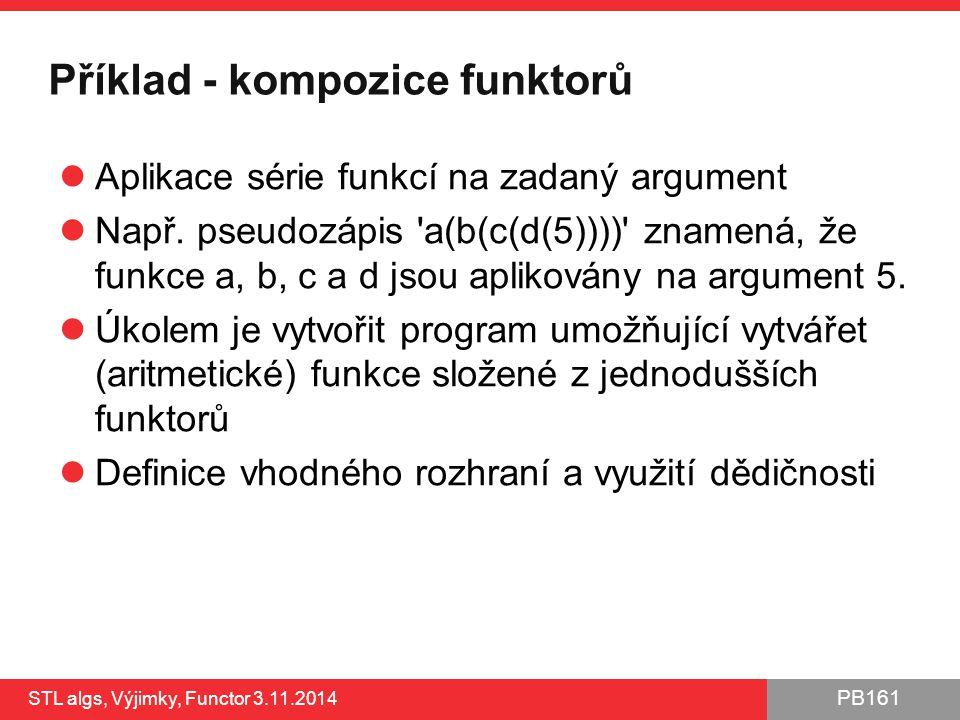Příklad - kompozice funktorů