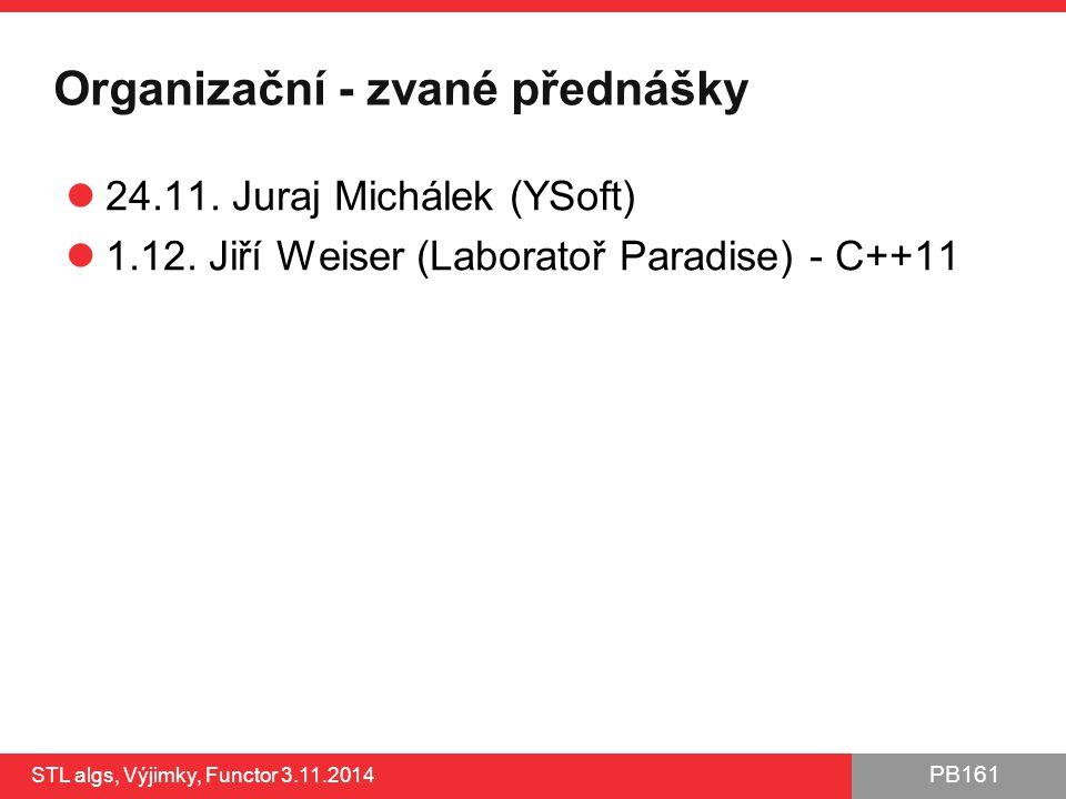 Organizační - zvané přednášky