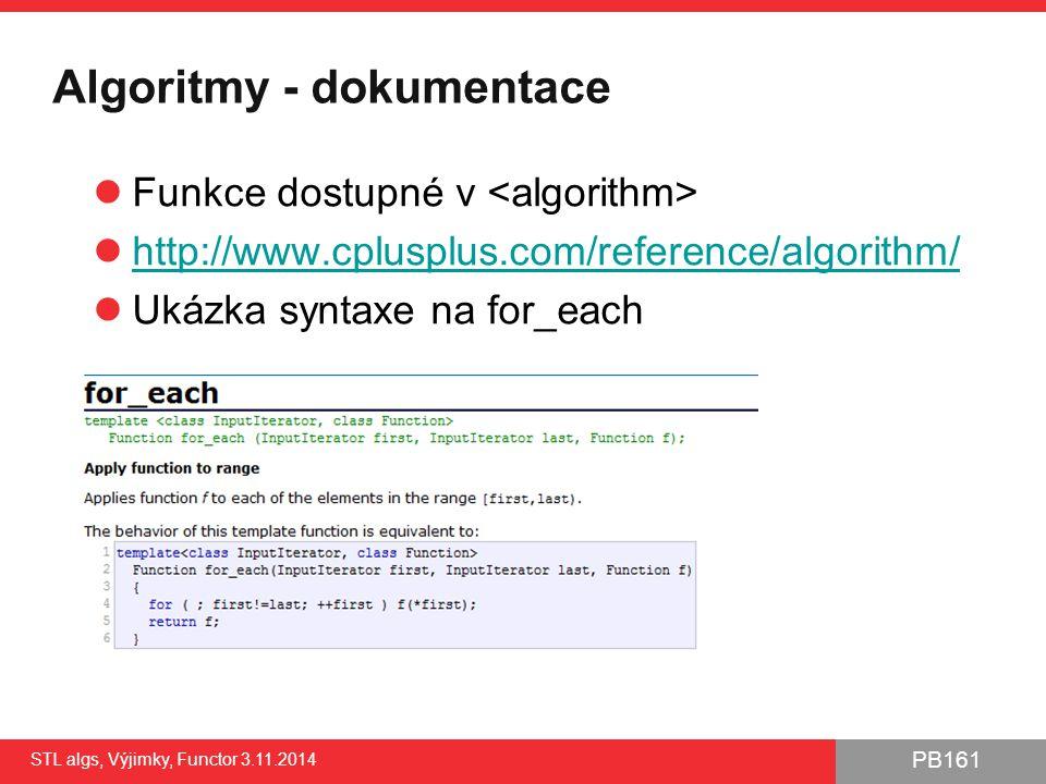 Algoritmy - dokumentace