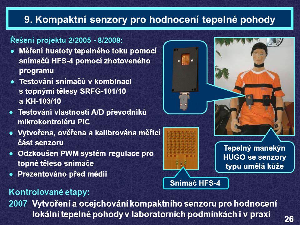9. Kompaktní senzory pro hodnocení tepelné pohody