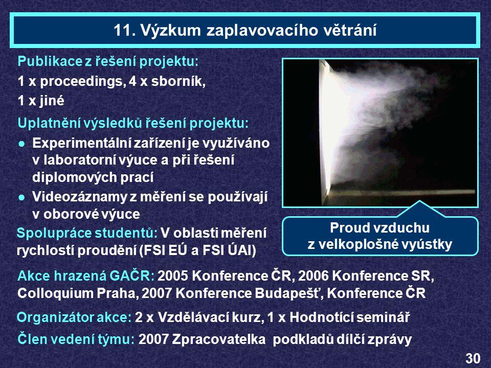 11. Výzkum zaplavovacího větrání