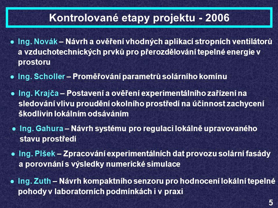 Kontrolované etapy projektu - 2006