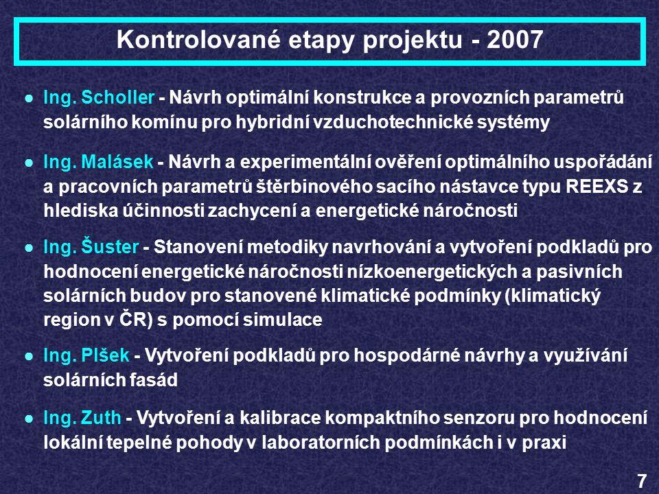 Kontrolované etapy projektu - 2007