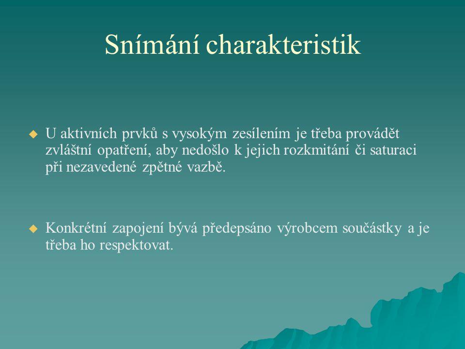 Snímání charakteristik