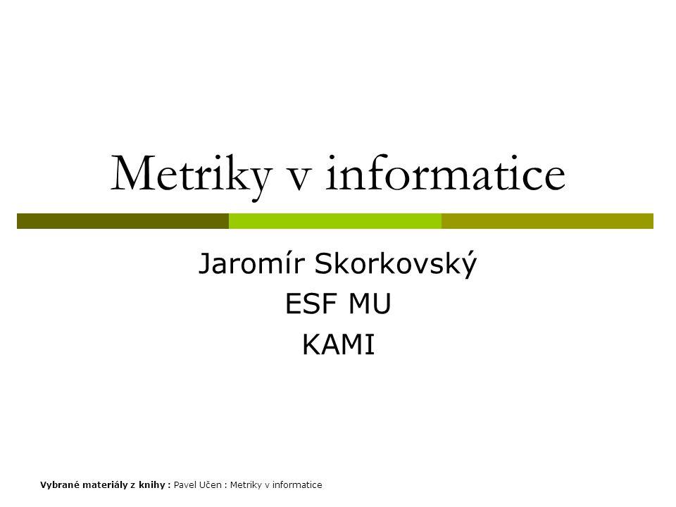 Jaromír Skorkovský ESF MU KAMI
