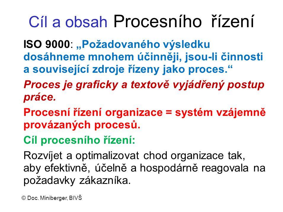 Cíl a obsah Procesního řízení