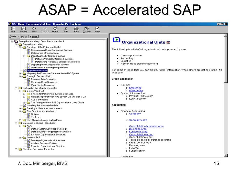ASAP = Accelerated SAP