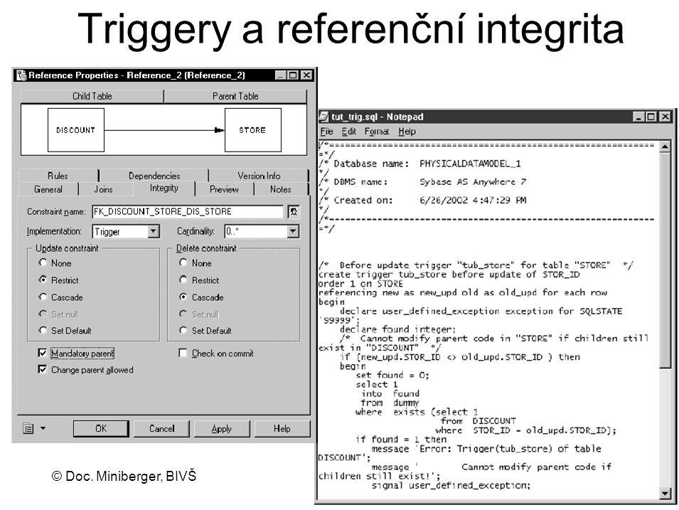 Triggery a referenční integrita