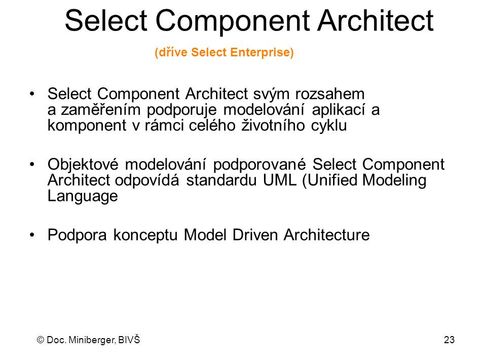 Select Component Architect