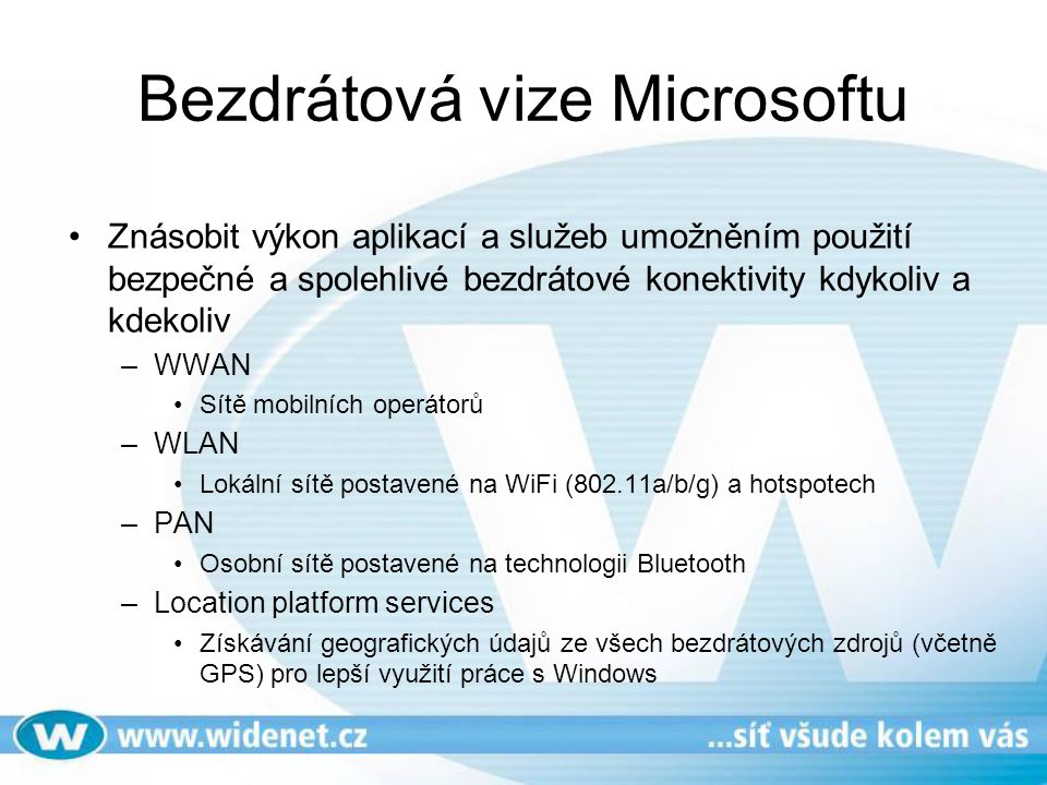 Bezdrátová vize Microsoftu
