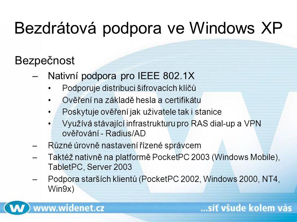Bezdrátová podpora ve Windows XP