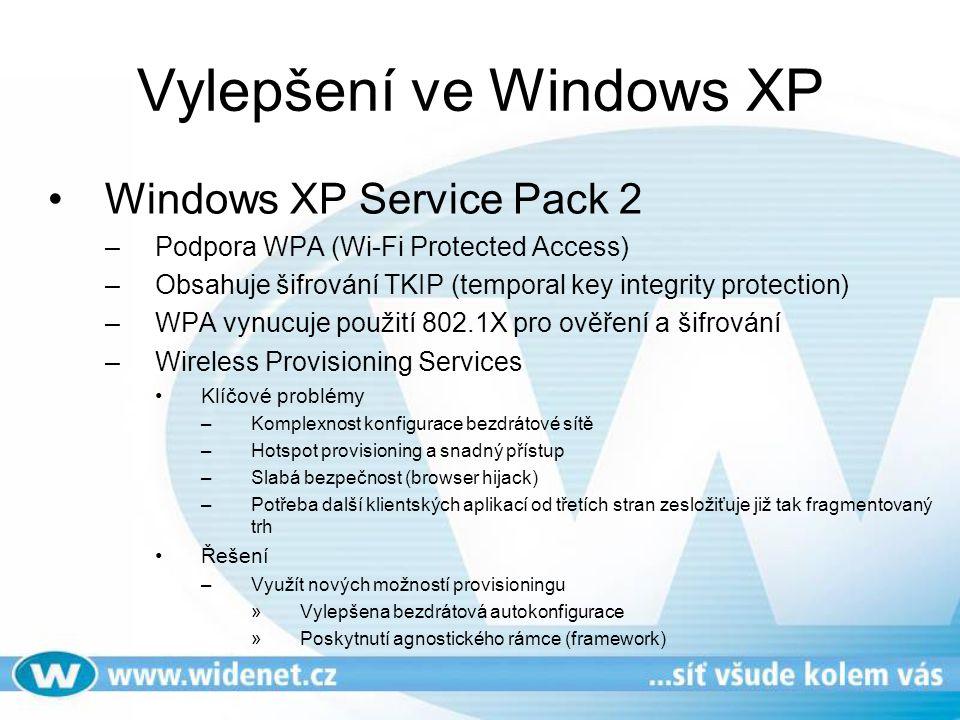 Vylepšení ve Windows XP