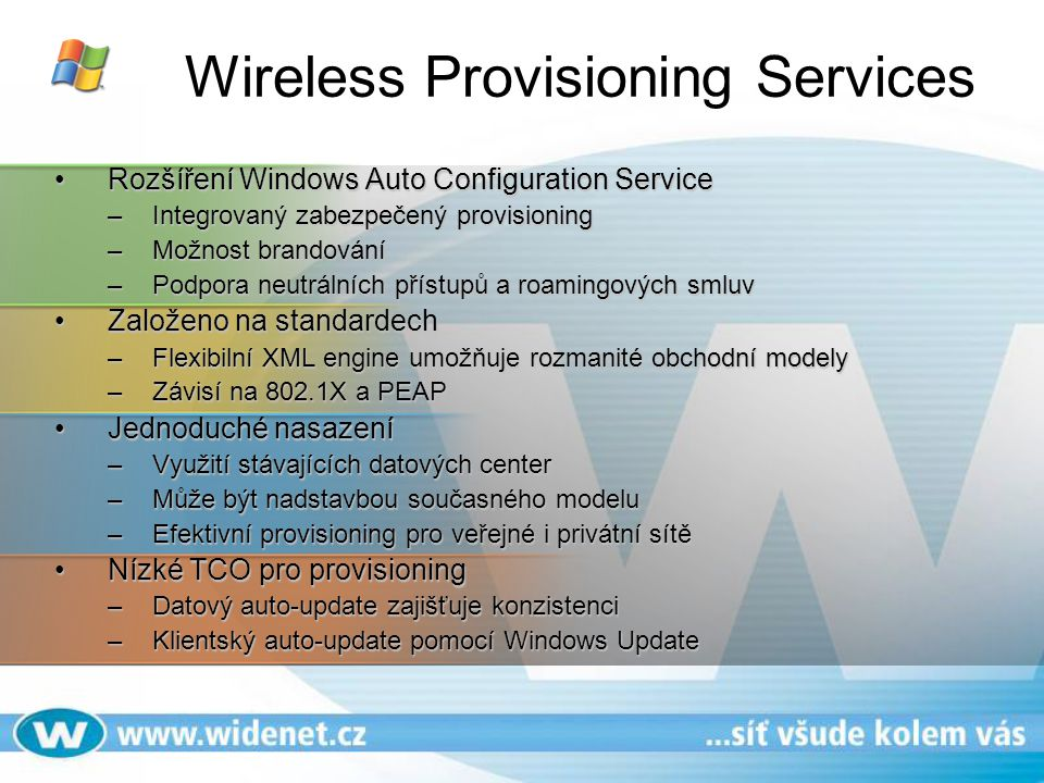 Wireless Provisioning Services