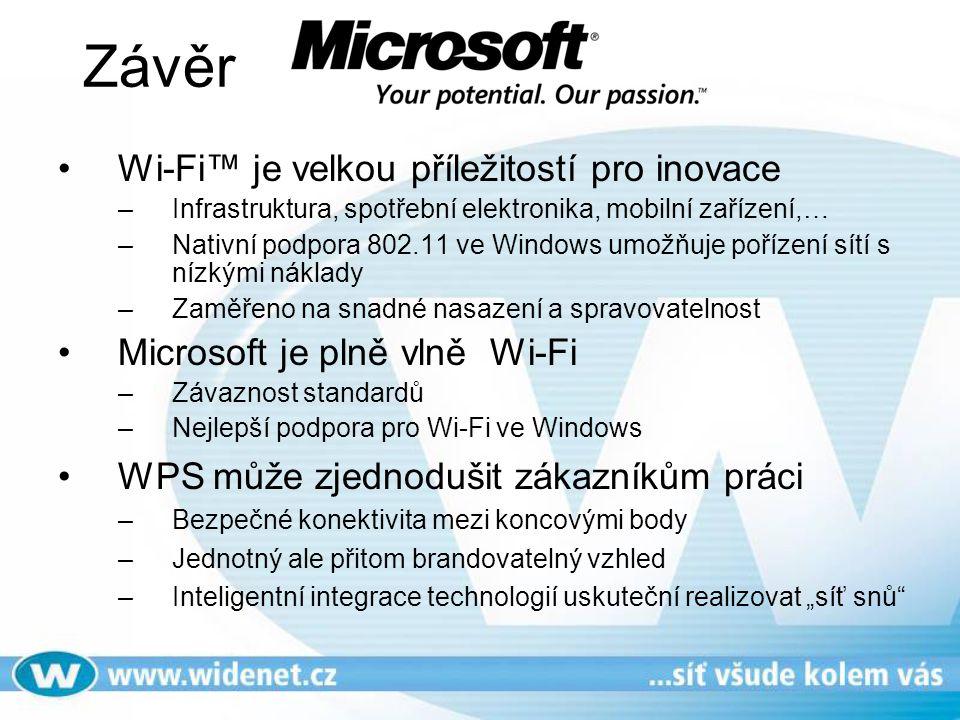 Závěr Wi-Fi™ je velkou příležitostí pro inovace