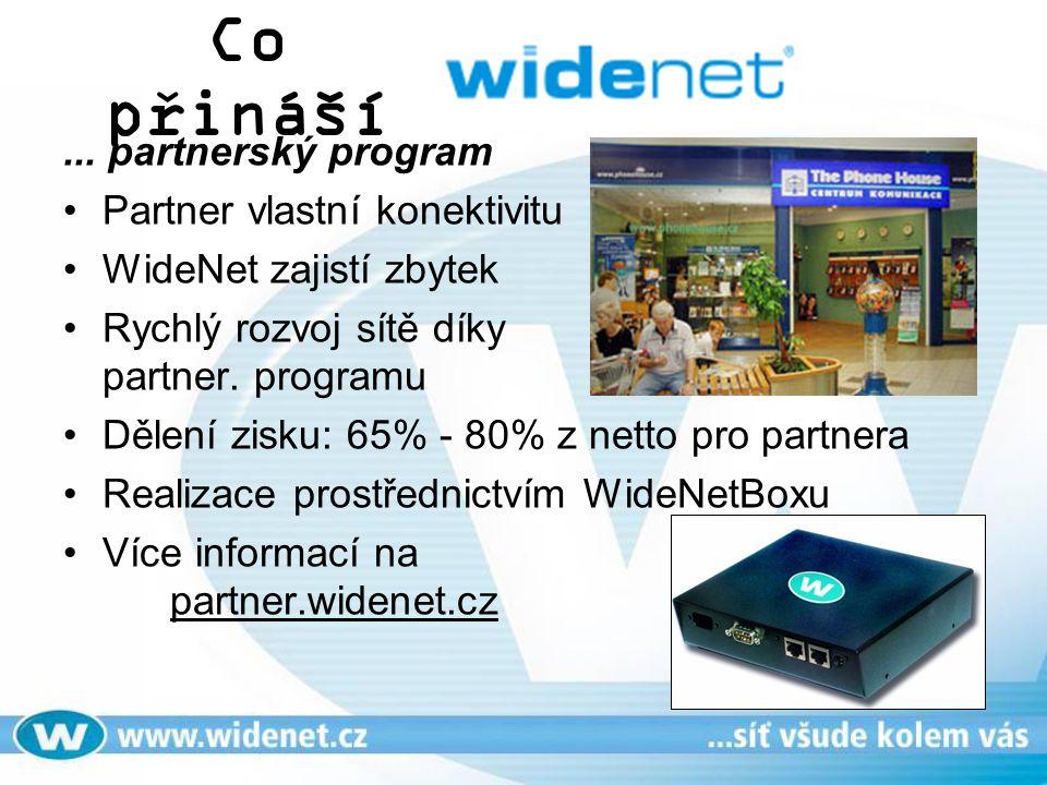 Co přináší ... partnerský program Partner vlastní konektivitu