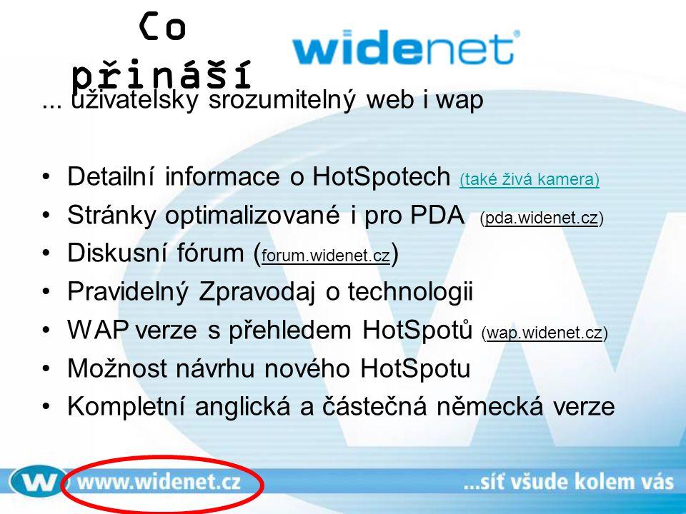 Co přináší ... uživatelsky srozumitelný web i wap