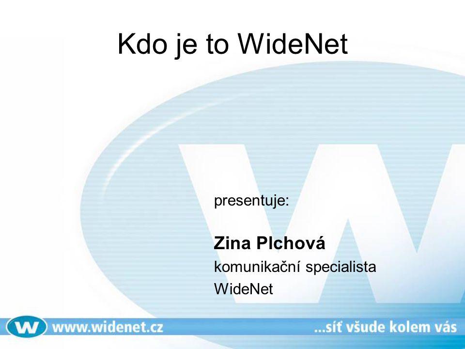 Kdo je to WideNet presentuje: Zina Plchová komunikační specialista