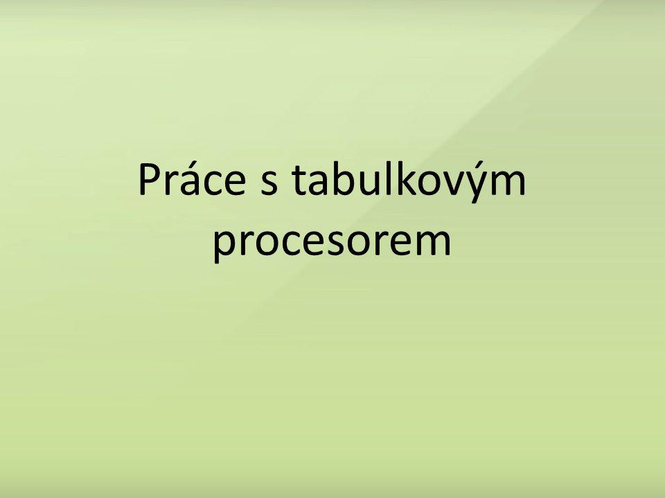 Práce s tabulkovým procesorem