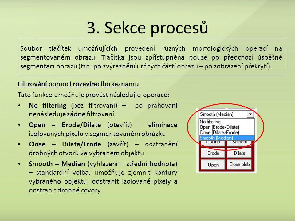3. Sekce procesů