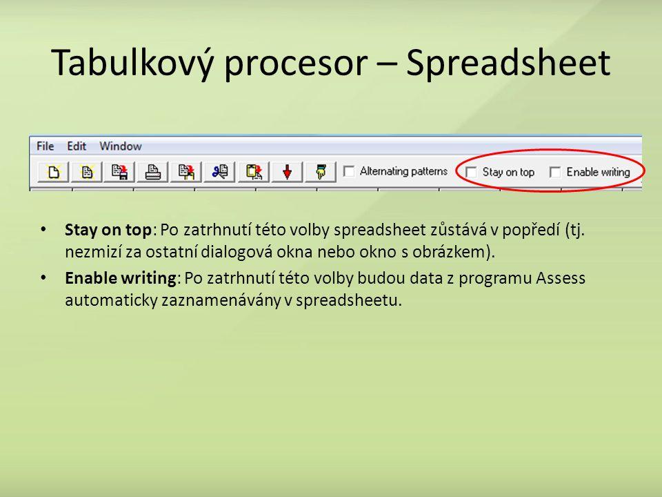 Tabulkový procesor – Spreadsheet