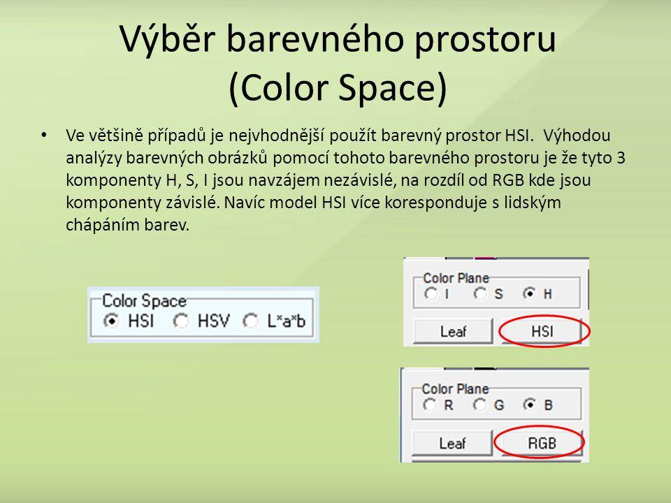 Výběr barevného prostoru (Color Space)