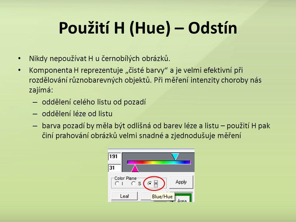 Použití H (Hue) – Odstín