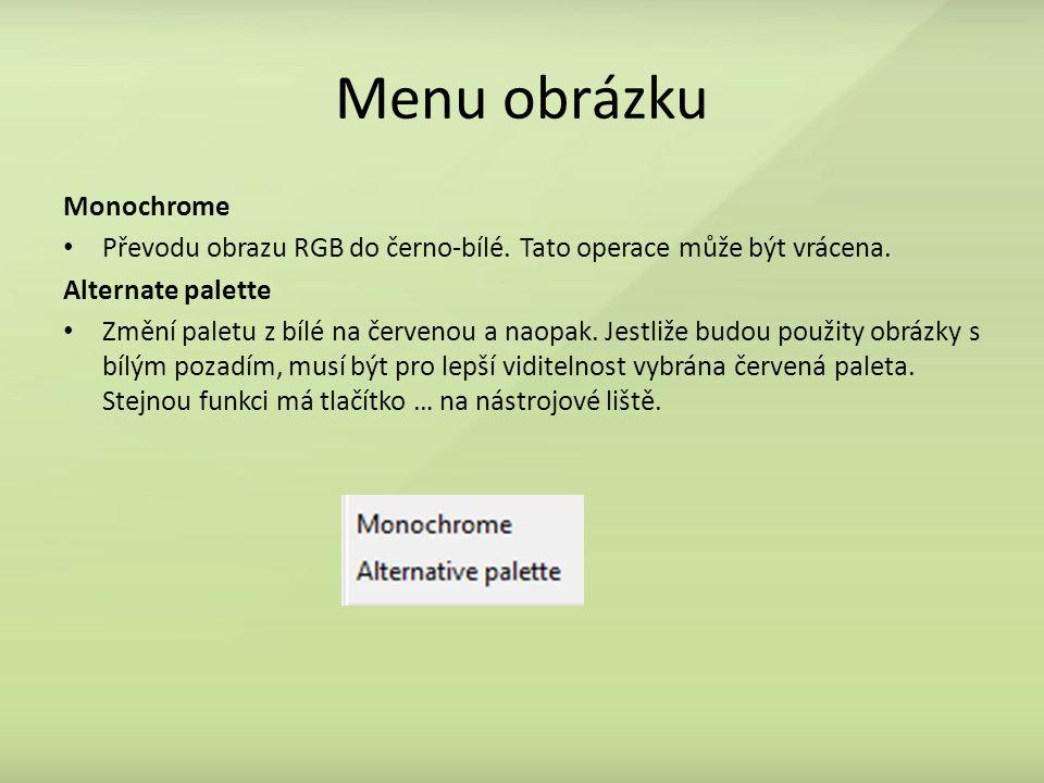 Menu obrázku Monochrome