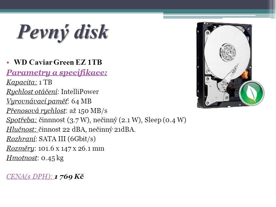 Pevný disk WD Caviar Green EZ 1TB Parametry a specifikace: