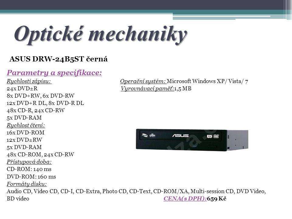 Optické mechaniky ASUS DRW-24B5ST černá Parametry a specifikace: