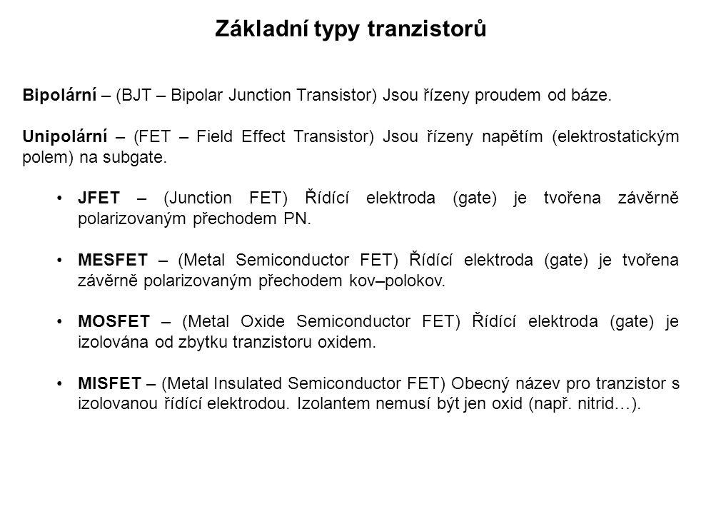Základní typy tranzistorů