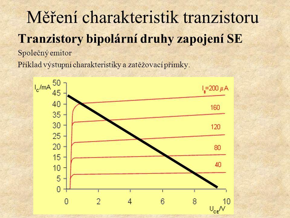 Měření charakteristik tranzistoru