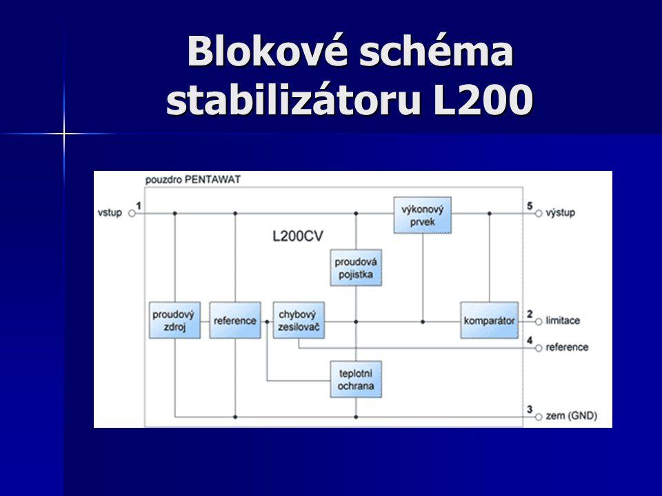 Blokové schéma stabilizátoru L200