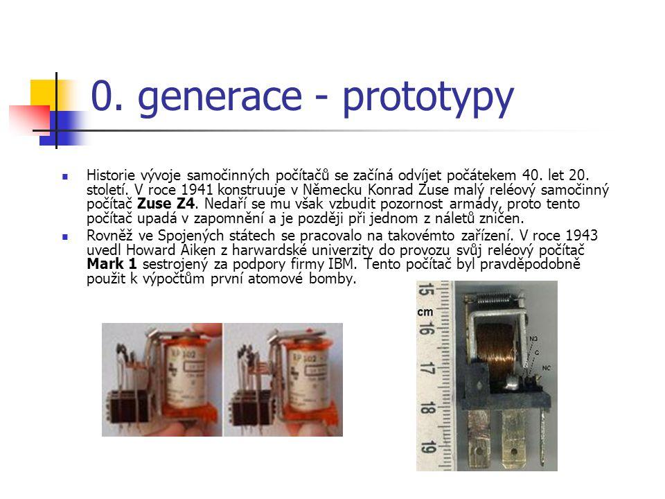 0. generace - prototypy