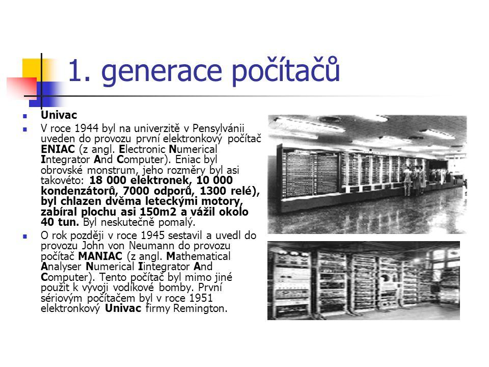 1. generace počítačů Univac
