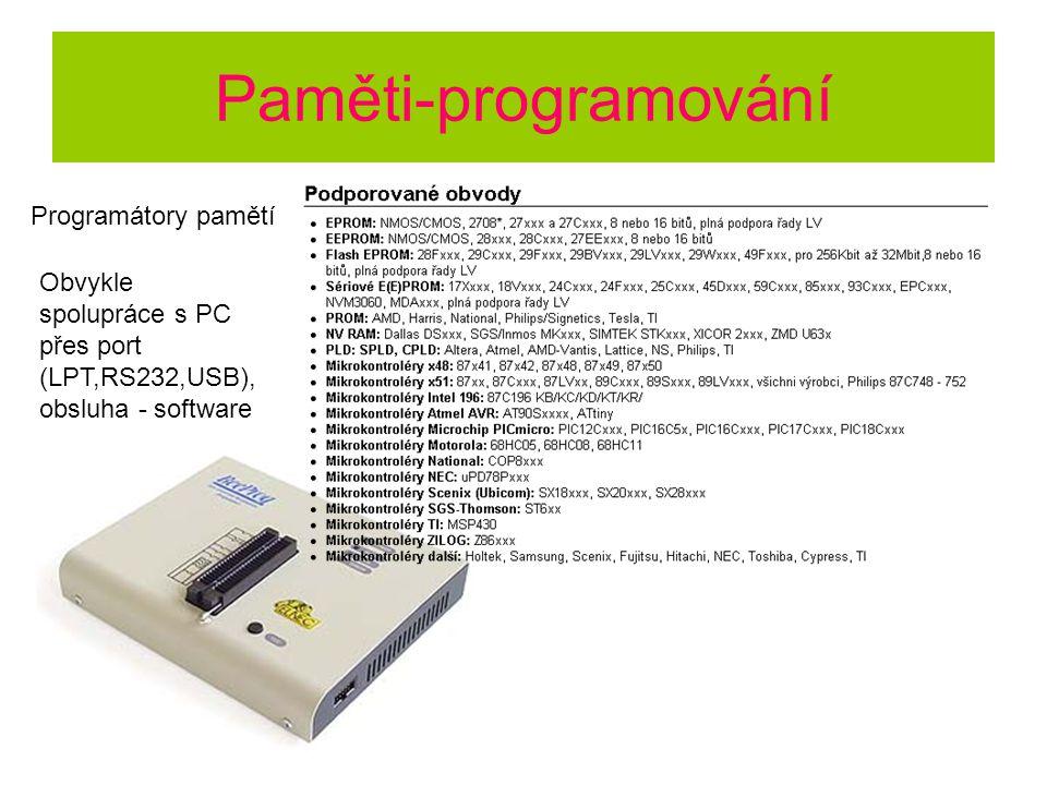 Paměti-programování Programátory pamětí